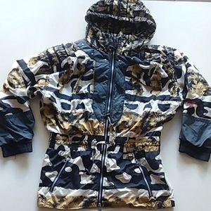 Vintage obermeyer ski snow jacket size 10 yellow